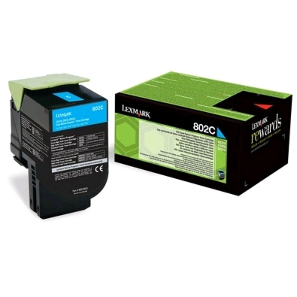 Toner laser original lrp 802c 80c20c0 1000 pages cyan