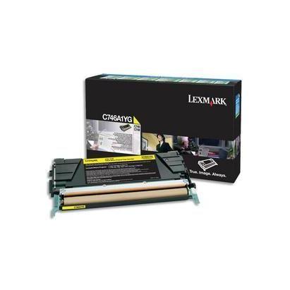 Cartouche laser pour c746/c748 jaune c746a1yg