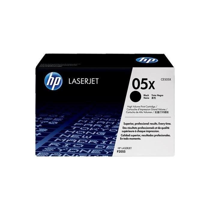 Cartouche originale ce505x pour laserjet p2055 6500 pages noir