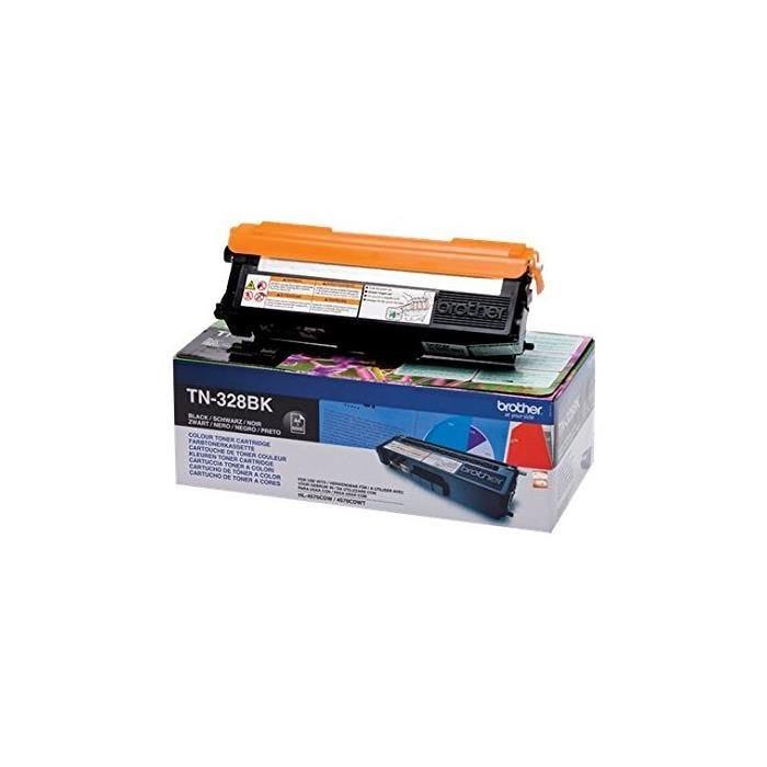 Toner laser original haute capacité tn328bk 6000 pages noir