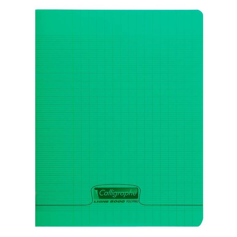 Cahier 8000 polypro, 170 x 220 mm, vert (photo)