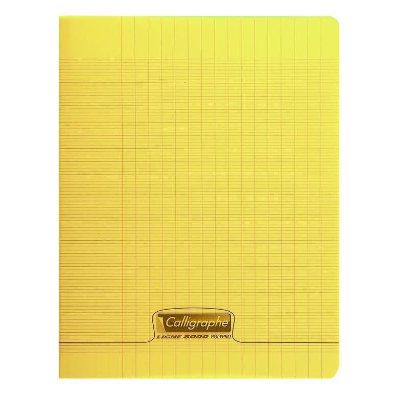Cahier 8000 polypro, 240 x 320 mm, jaune (photo)