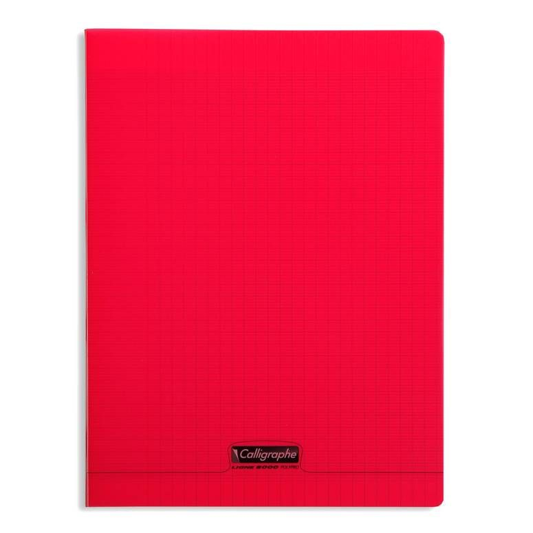 Cahier 8000 polypro, 240 x 320 mm, rouge (photo)