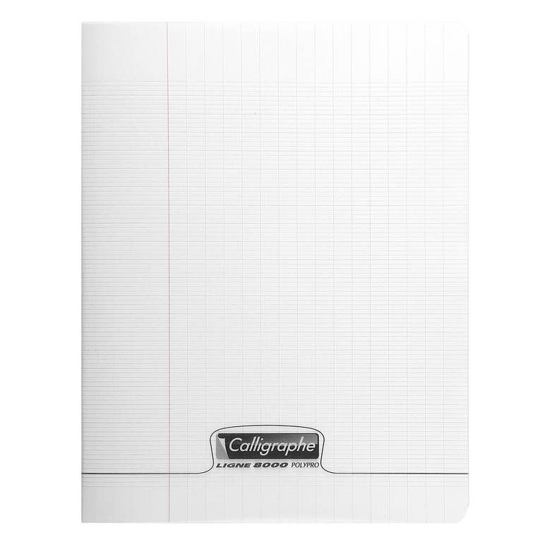 Cahier 8000 polypro 24 x 32 cm 96 pages 90g incolore (photo)