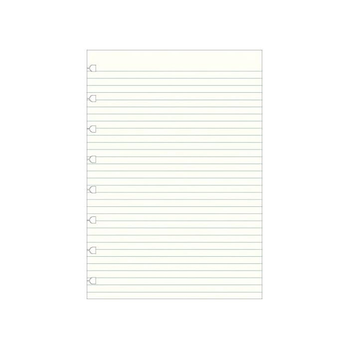 Recharge pour carnet de notes rechargeable format a5, lignée, blanc