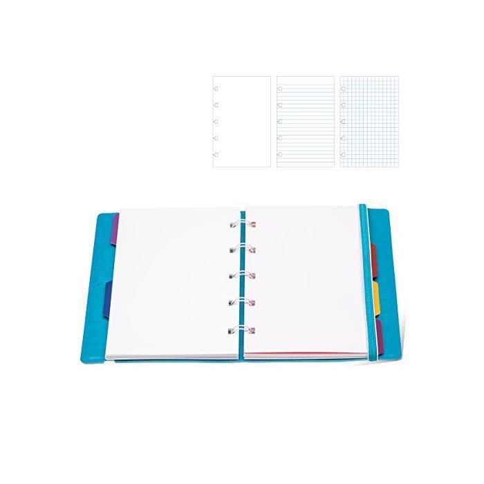 Recharge pour carnet de notes rechargeable format a5, quadrillée, blanc