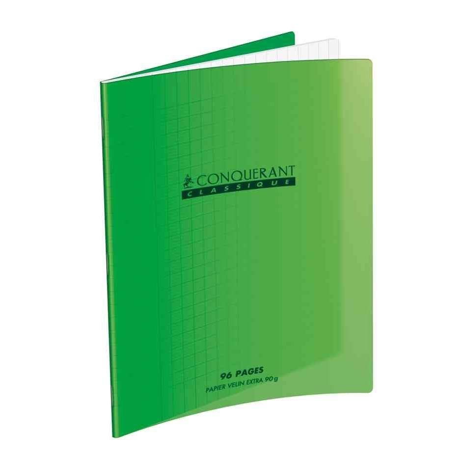 Cahier 240 x 320 mm, seyès, 48 pages vert (photo)