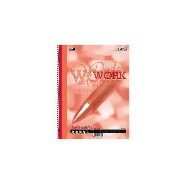 Collegeblock 'work' din a5, 80 blatt, kariert