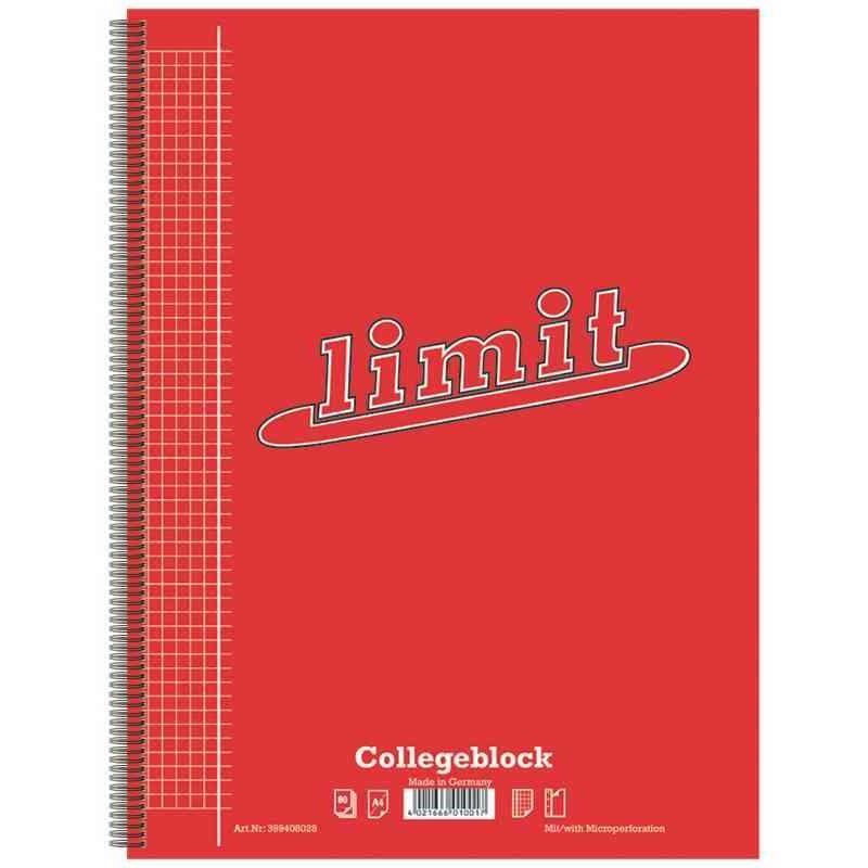 Cahier 'limit' a4, quadrillé, 160 pages (photo)