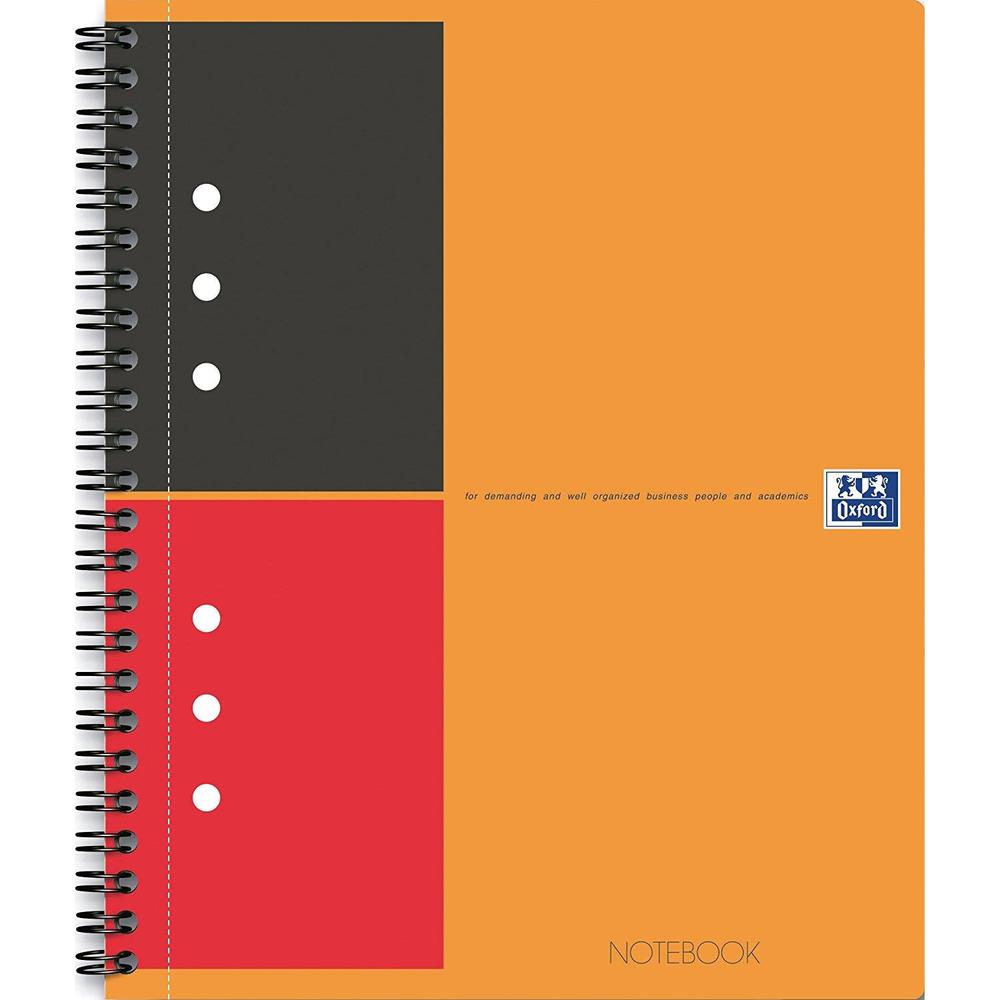 Bloc 'notebook' international a4+ 80 feuilles 90g lignées 4 trous (photo)