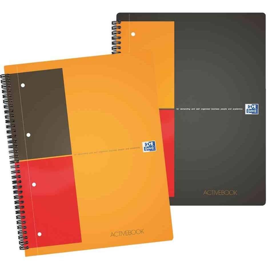 Cahier activebook rel. Intégrale a4+ 160 p 80g q 5x5, avec intercalaires (photo)