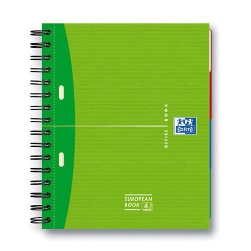 Collegeblock european book 4 a4+ ligné 240p coloris aléatoire