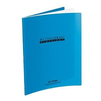 Cahier 210 x 297 mm, séyès, bleu, 48 feuilles (photo)