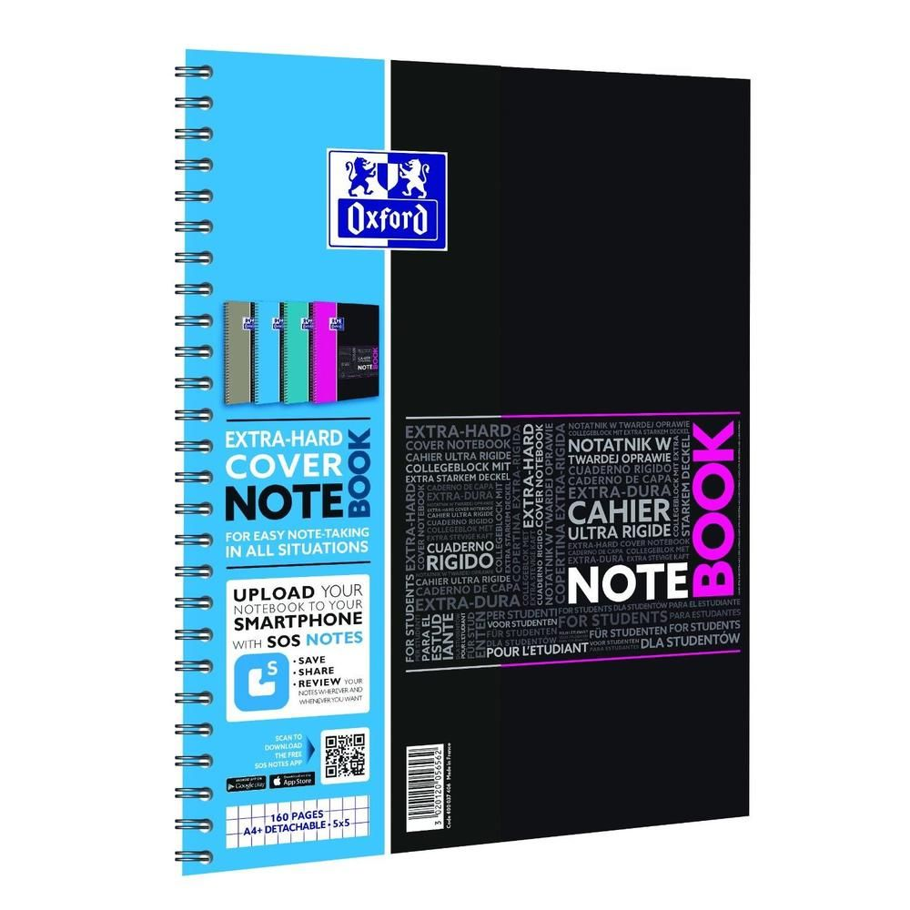 Bloc à spirale notebook etudiant a4+ 80 feuilles 90g 4 trous (photo)