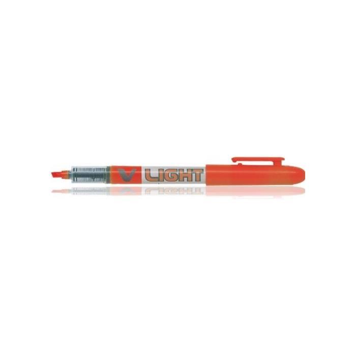 Surligneur de poche V-Light pte biseautée encre liquide Orange