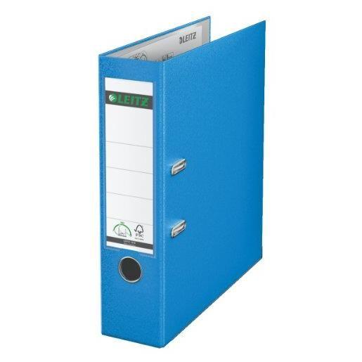 Classeur à levier 180 degrés carton dos de 80 mm Bleu clair