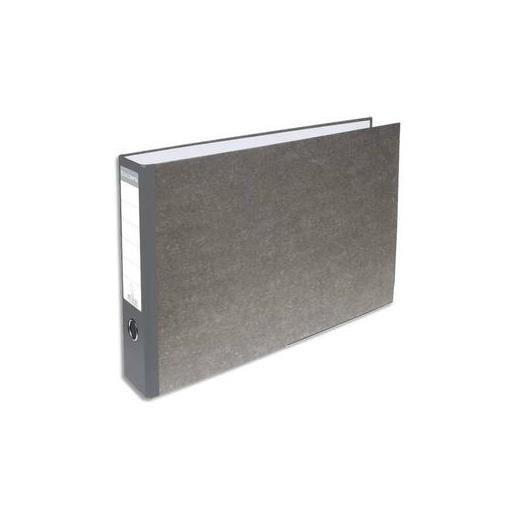 Classeur à levier en carton gris A4 à l'italienne dos 70mm