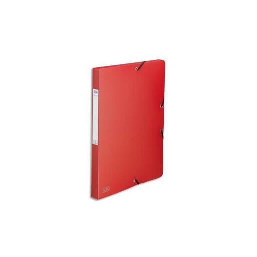 Chemise 3 rabats et élastique Memphis Polypro dos 2,5 cm Rouge