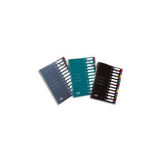 Trieur polypropylène 8 compartiments chemise à 3 rabats avec élastique