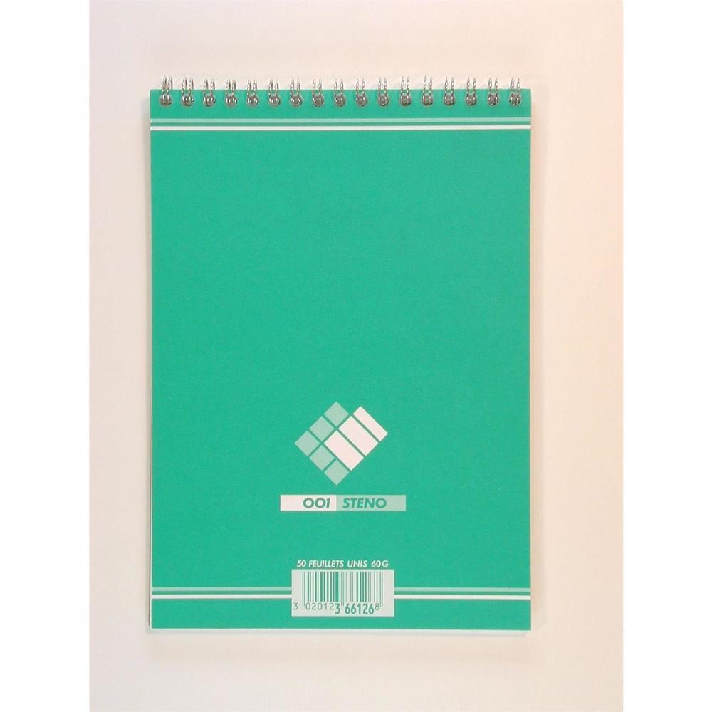 Bloc sténo format 14,8 x 21 cm 100 pages uni