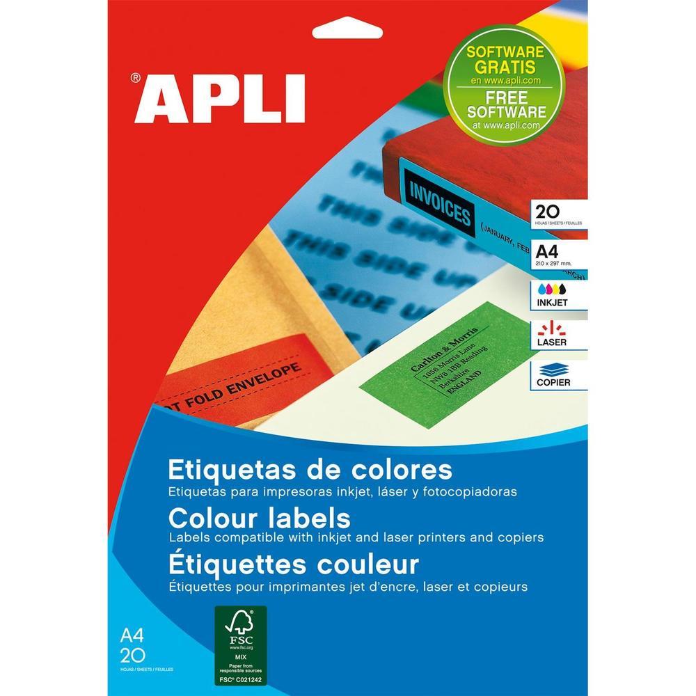 Étiquettes couleur Multi-usages Permanent 105 mm x 37 mm Jaune - par lot de 320