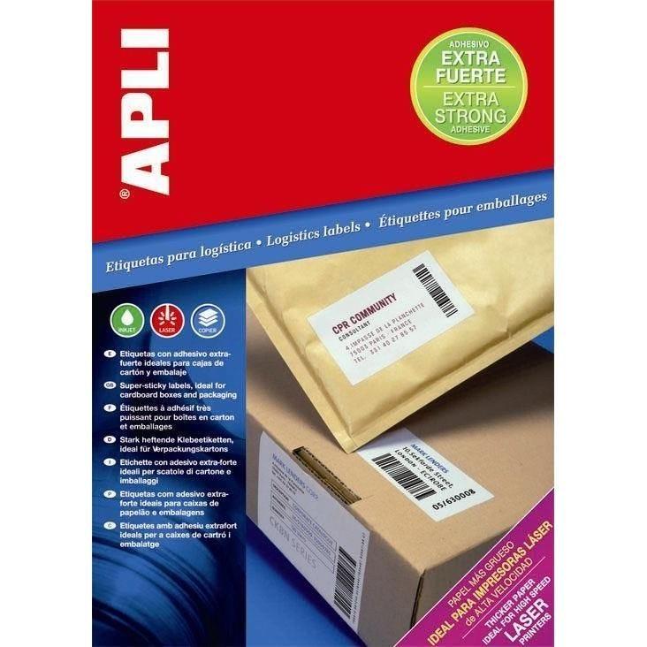 Boite de 100 Étiquettes adhésif extra fort multi-usage 210 x 297 mm - boîte de 1