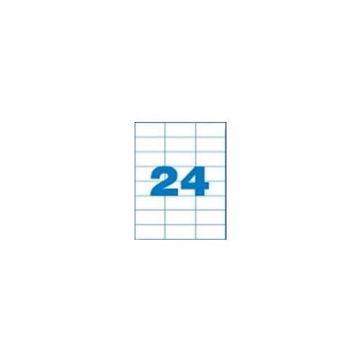 Etui 480 Étiquettes 70x37 mm (24 x 20F A4) Multi-usage Coin Droit Permanent C…