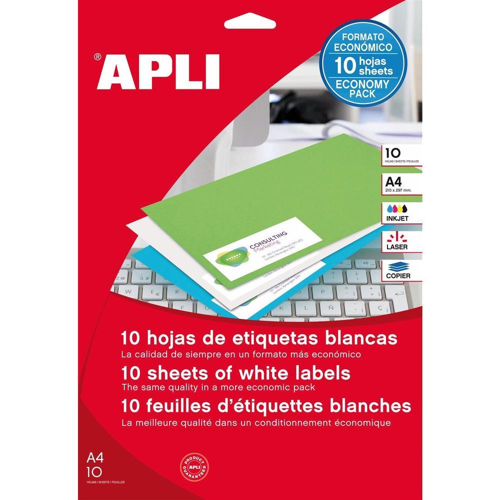 Etui 240 Étiquettes 70x37mm (24 x 10F A4) Multi-usage Coin Droit Permanent Blanc