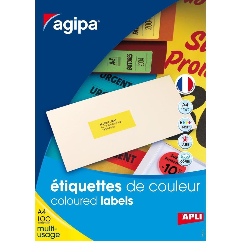 Boite de 400 Étiquettes 105x148,5 mm (4 x 100F A4) Multi-usage Coin Droit Rouge
