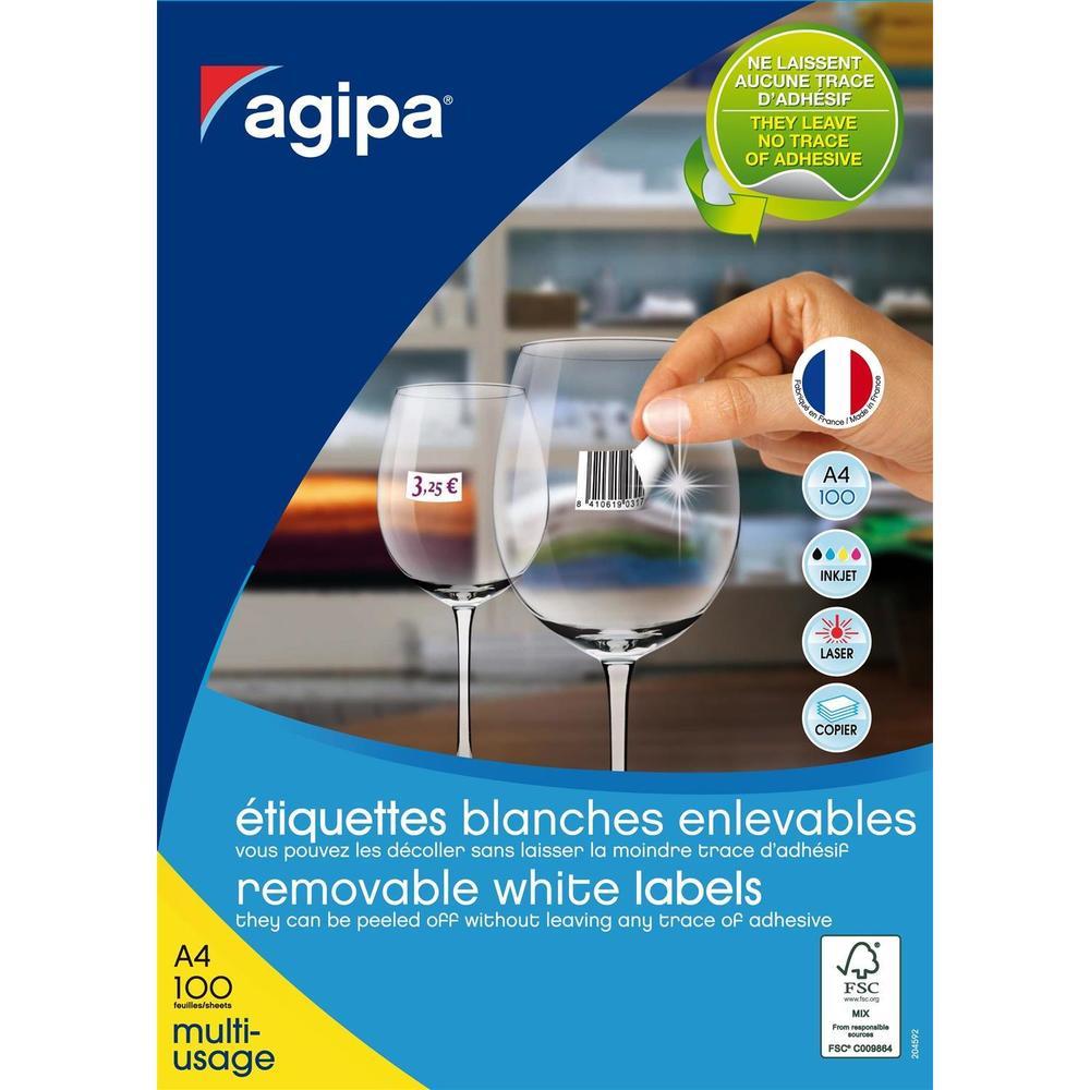 Boite de 6500 Étiquettes 38x21,2 mm (65 x 100F A4) Multi-usage