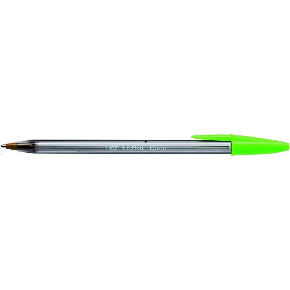 Stylo bille CRISTAL FUN 1,6 mm Pointe Large Encre Vert
