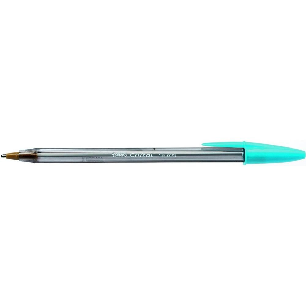 Stylo bille CRISTAL FUN 1,6 Pointe Large encre Turquoise