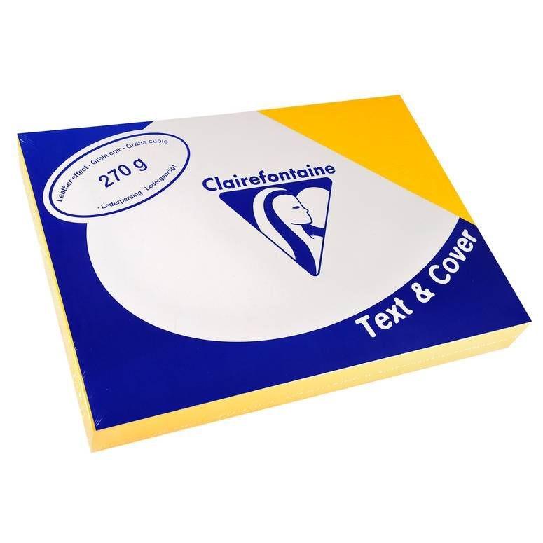 Couvertures reliure Text&Cover Cuir 270g A4 210x297 mm Jaune - Paquet de 100
