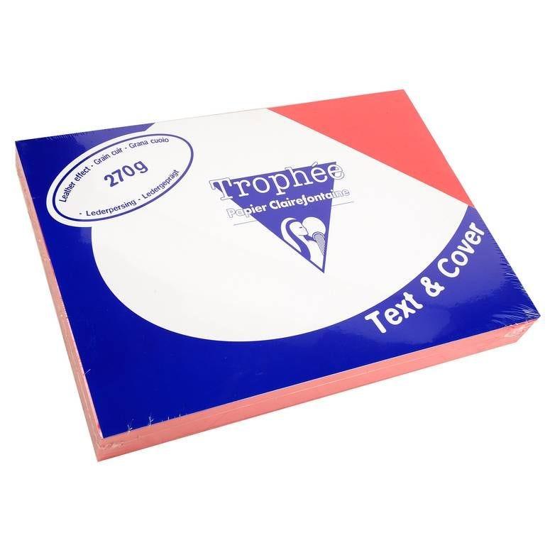 Couvertures reliure Text&Cover Cuir 270g A4 210x297 mm Rouge - Paquet de 100