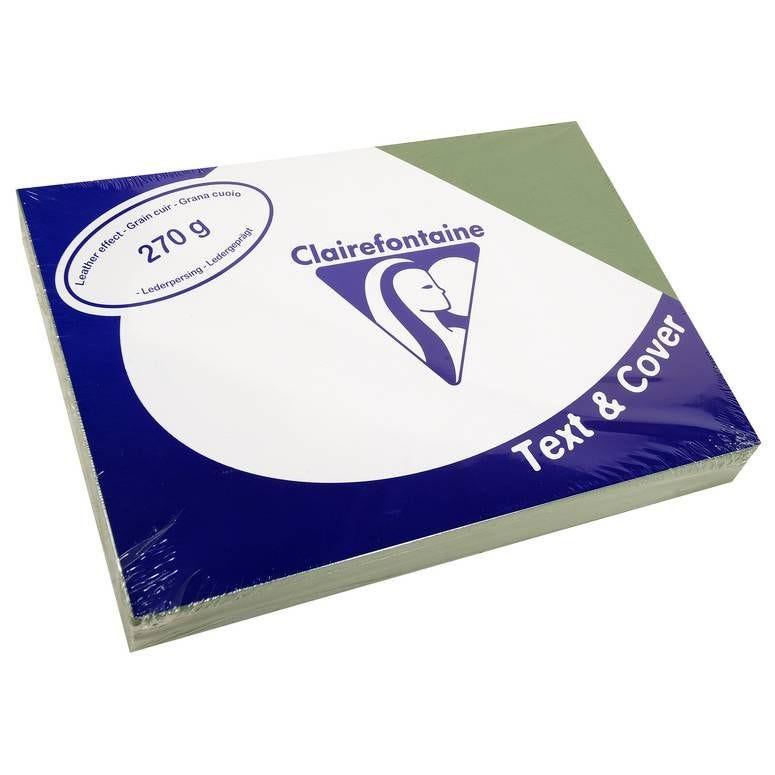 Couvertures reliure Text&Cover Cuir 270g A4 210x297 mm Vert - Paquet de 100