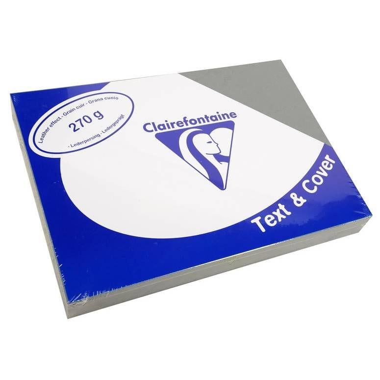 Couvertures reliure Text&Cover Cuir 270g A4 210x297 mm Gris - Paquet de 100