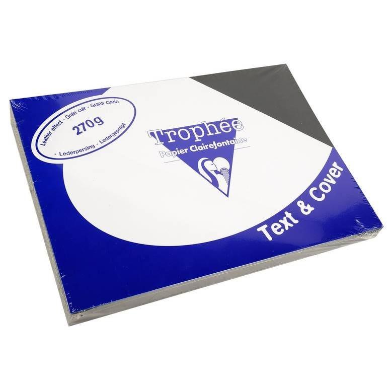 Couvertures reliure Text&Cover Cuir 270g A4 210x297 mm Noir - par lot de 100