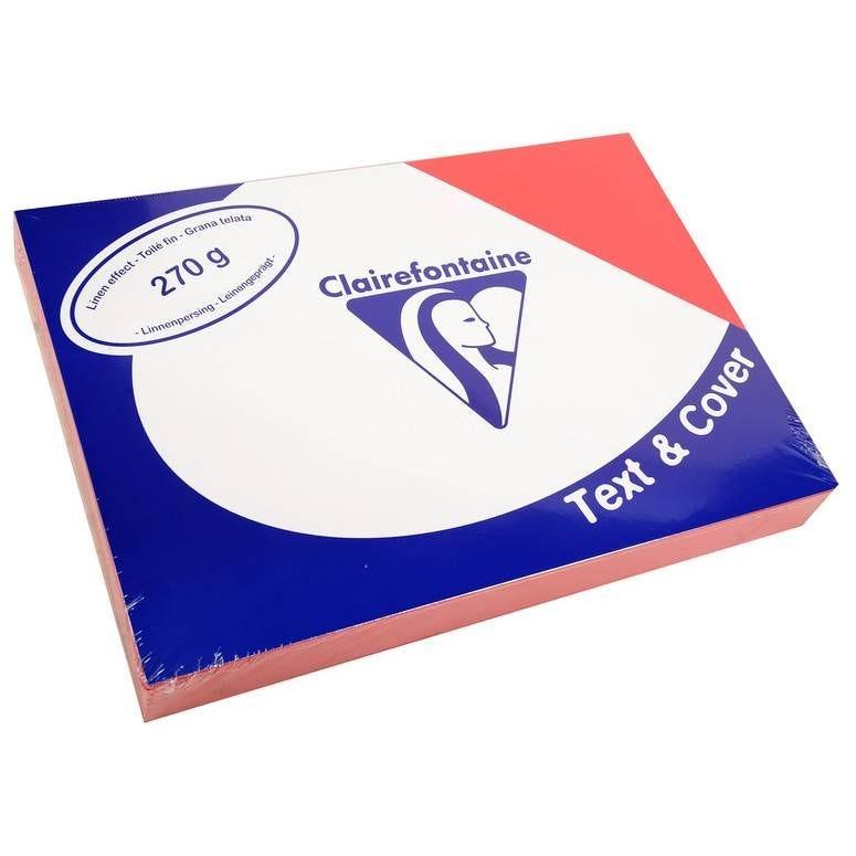 Couvertures reliure Text&Cover Toilé 270g A4 210x297 mm Rouge - Paquet de 100