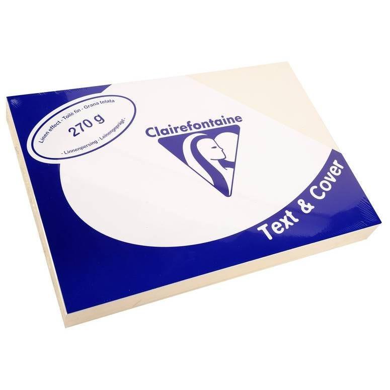 Couvertures reliure Text&Cover Toilé 270g A4 210x297 mm Blanc - Paquet de 100