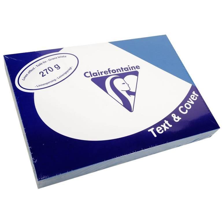 Couvertures reliure Text&Cover Toilé 270g A4 210x297 mm Bleu - Paquet de 100