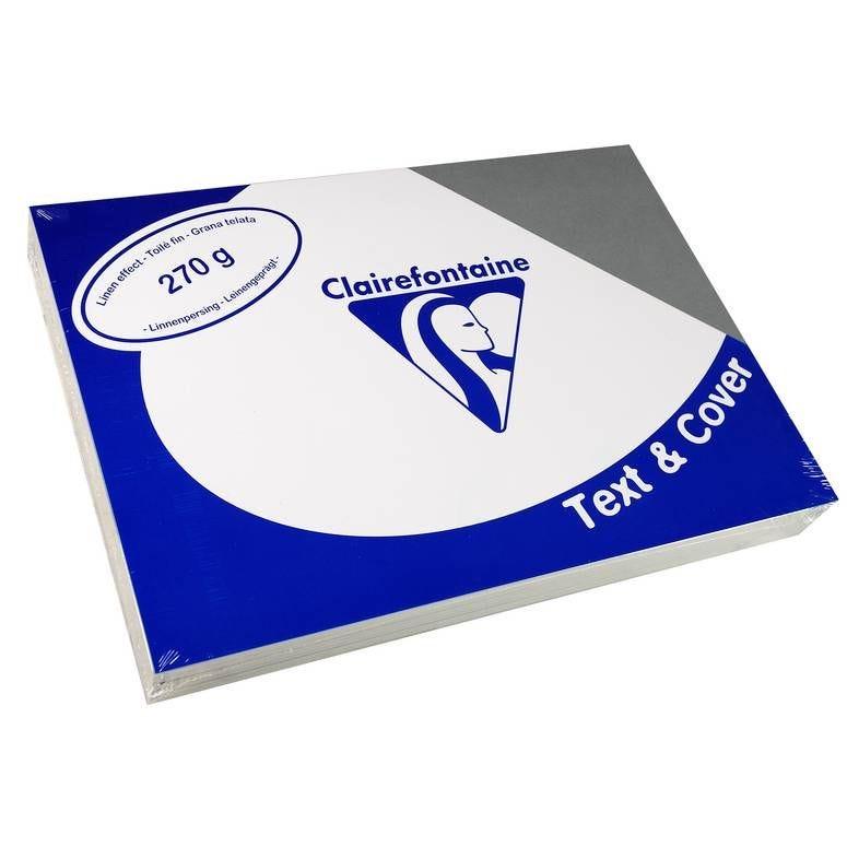 Couvertures reliure Text&Cover Toilé 270g A4 210x297 mm Gris - Paquet de 100