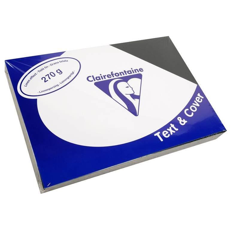 Couvertures reliure Text&Cover Toilé 270g A4 210x297 mm Noir - Paquet de 100