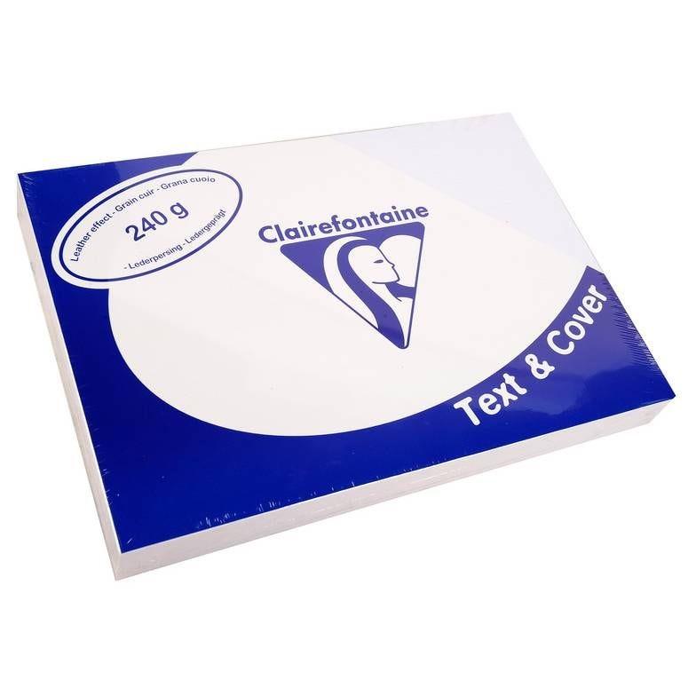 Couvertures reliure Text&Cover Cuir 240g A4 210x297 mm Blanc - Paquet de 100