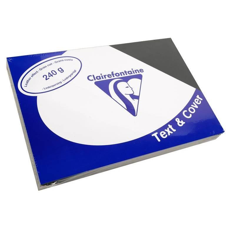 Couvertures reliure Text&Cover Cuir 240g A4 210x297 mm Noir - Paquet de 100