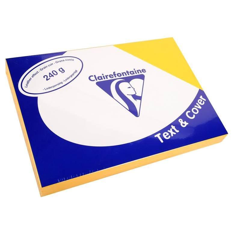 Couvertures reliure Text&Cover Cuir 240g A4 210x297 mm Jaune - Paquet de 100