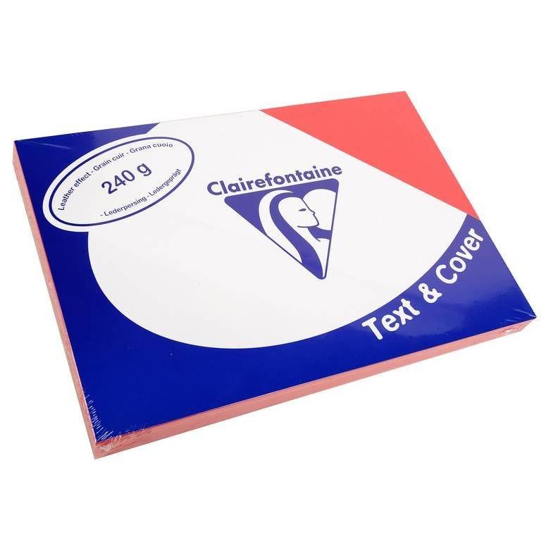 Couvertures reliure Text&Cover Cuir 240g A4 210x297 mm Rouge - Paquet de 100