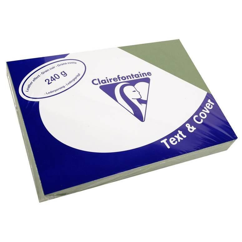 Couvertures reliure Text&Cover Cuir 240g A4 210x297 mm Vert - Paquet de 100