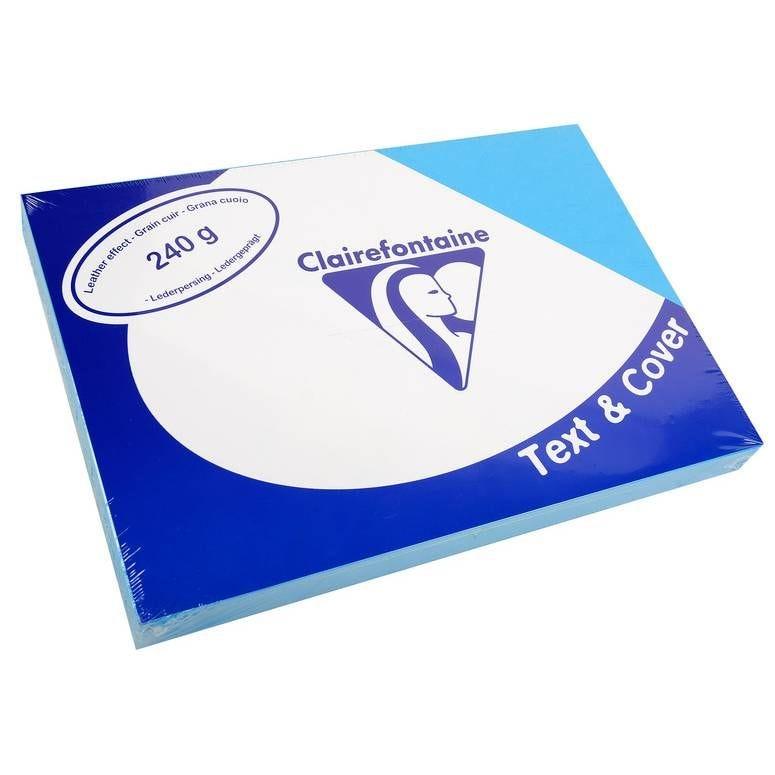 Couvertures reliure Text&Cover Cuir 240g A4 210x297 mm Bleu - Paquet de 100