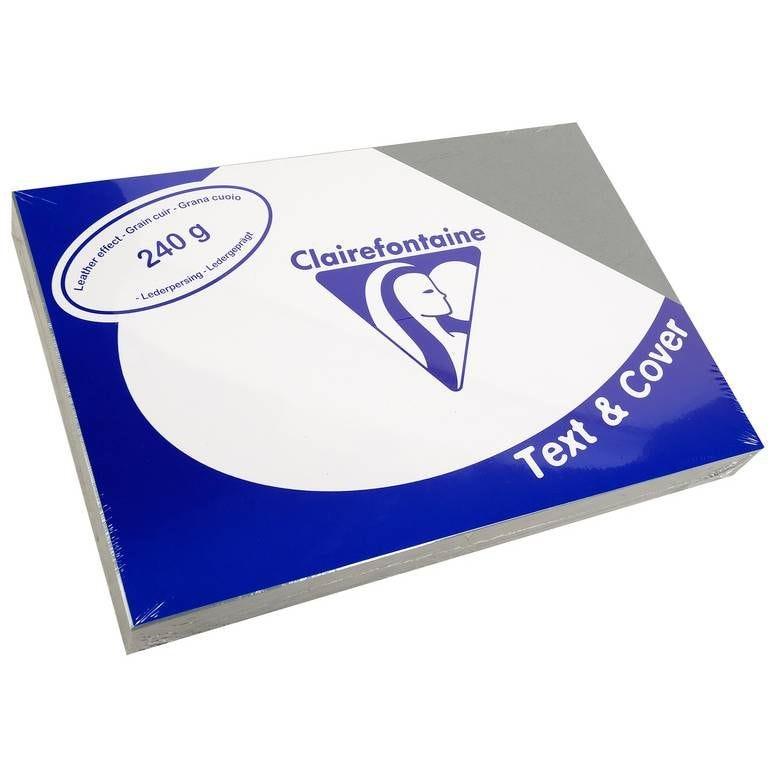 Couvertures reliure Text&Cover Cuir 240g A4 210x297 mm Gris - Paquet de 100