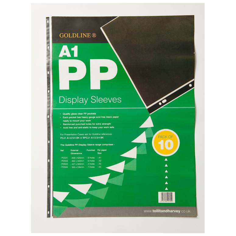 Pochettes .perf. PP 9 trous A1 - Paquet de 10